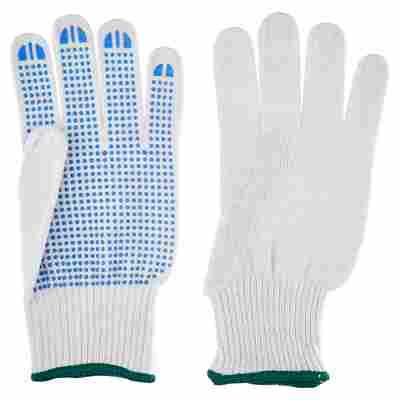 Universal Handschuhe mit Grip weiß Gr. 9/L