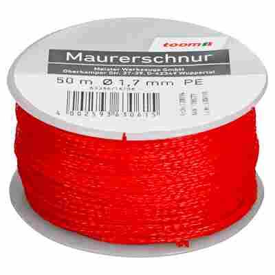Maurerschnur rot 50 m x 1,7 mm