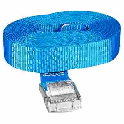 Zurrgurt blau 2,5 x 600 cm mit Klemmschloss