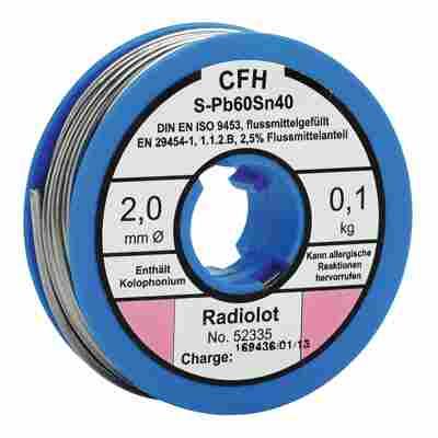 Radiolot flussmittelgefüllt