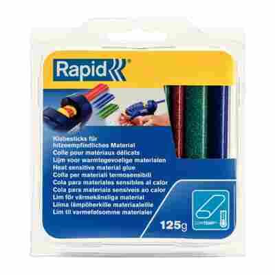 Rapid Niedertemperatur-Klebesticks Röt/Blau/Grün Glitzer 9 mm Oval 125 g