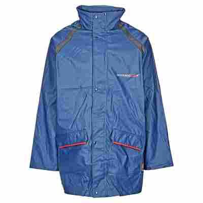 Regenjacke Polyurethan/Polyester marineblau Gr. XL