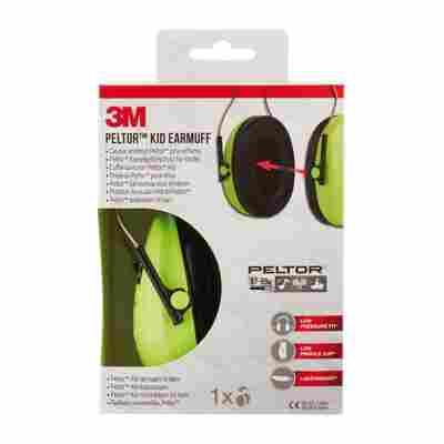 Kinder Kapsel-Gehörschutz Peltor H510 neongrün