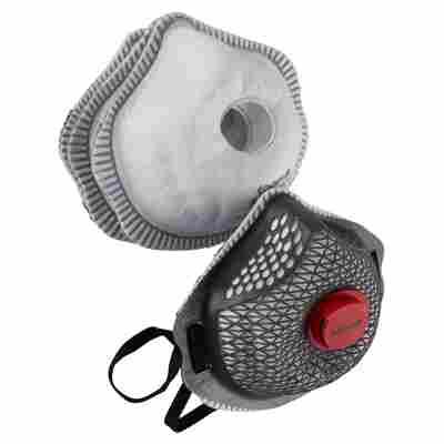 FFP3-Atemschutz-Netzmaske mit 5 Filtern, wiederverwendbar
