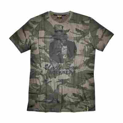 T-Shirt 'Workwear' olive/camouflage L, Baumwolle