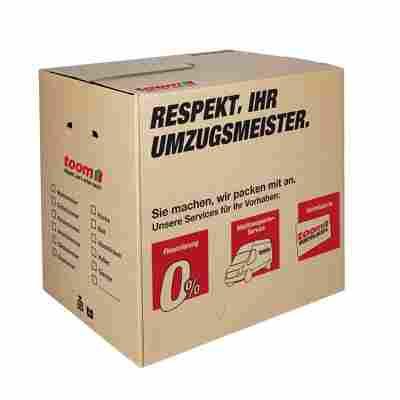 Umzugsbox mit Textfeld, 65 l