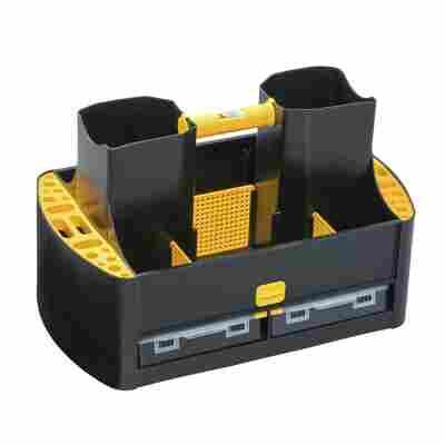 McPlus Werkzeug-Tragekasten 'Workman 19/62' schwarz/gelb 48,5 x 29,5 x 30 cm
