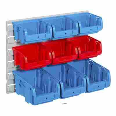 ProfiPlus Sichtboxen 'Set C 1+2/10' 10-teilig rot/blau