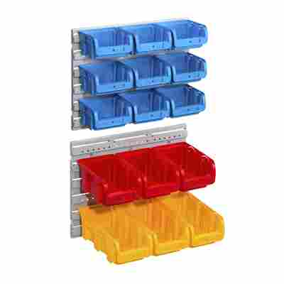Sichtboxen-Set 'ProfiPlus' 17-teilig rot/blau/gelb