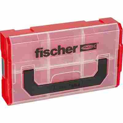 Aufbewahrungsbox 'FIXtainer' rot/transparent