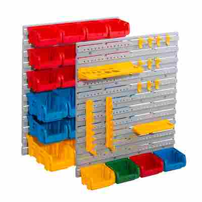 StorePlus Wandsystem 'Set P 43' mit 2 x Endloswand