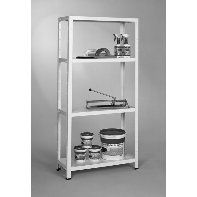 metallregal verzinkt 150 x 75 x 30 cm 200 kg toom baumarkt. Black Bedroom Furniture Sets. Home Design Ideas
