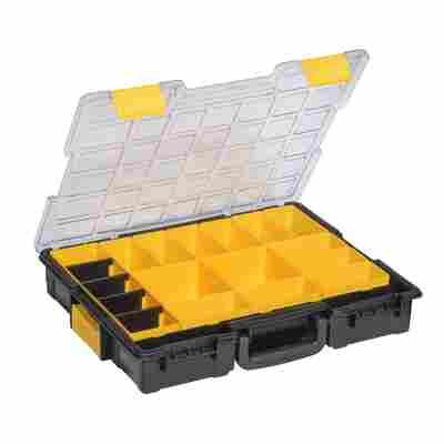 EuroPlusProfi-Kleinteilekoffer 'Pro >K<44/19' mit Clips schwarz/gelb