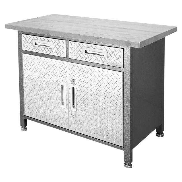 profi werkbank mit unterschrank grau 122 x 95 cm toom baumarkt. Black Bedroom Furniture Sets. Home Design Ideas