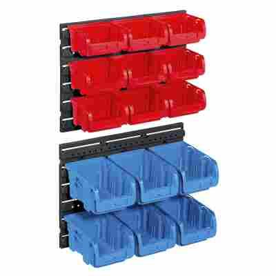 ProfiPlus Sichtboxen-Set 'Set C 1+2/17' 17-teilig rot/blau