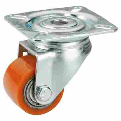 Schwerlast-Lenkrolle mit Platte 35 mm