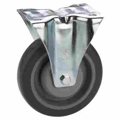 Transportgeräte-Bockrolle mit Platte 80 mm