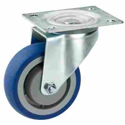 Transportgeräte-Lenkrolle mit Platte 80 mm