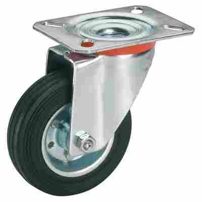 Transportgeräte-Lenkrolle mit Platte 200 mm