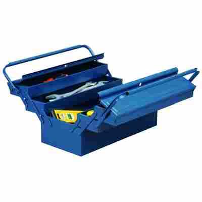 McPlus Werkzeugkasten 'Metall 5/57' Stahlblech blau 56 x 22 x 22 cm