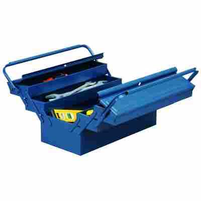 McPlus Werkzeugkasten 'Metall 5/47' Stahlblech blau 45 x 22 x 22 cm