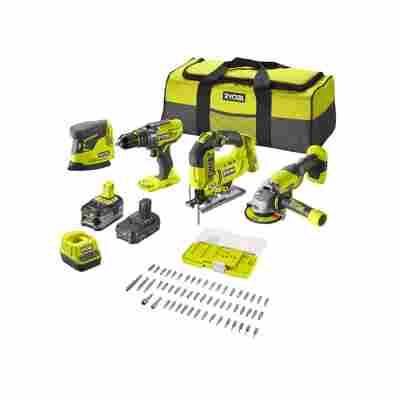 Combo-Kit 'R18CK4F-252S' inkl. Werkzeugtasche und 55-teiligem Bit-Set