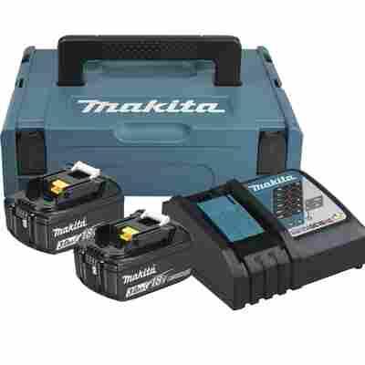 Akku-Set mit Schnellladegerät und 2 x 18-V-Akkus, 3 Ah