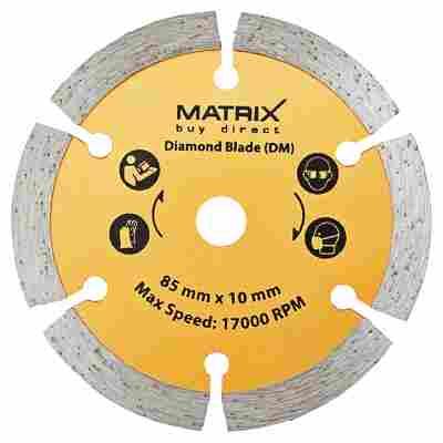Matrix Diamant-Trennscheibe Ø 85 x 120 mm