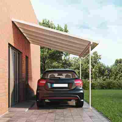 Terrassendach Bausatz Polycarbonat weiß 3,06 x 3,06 m