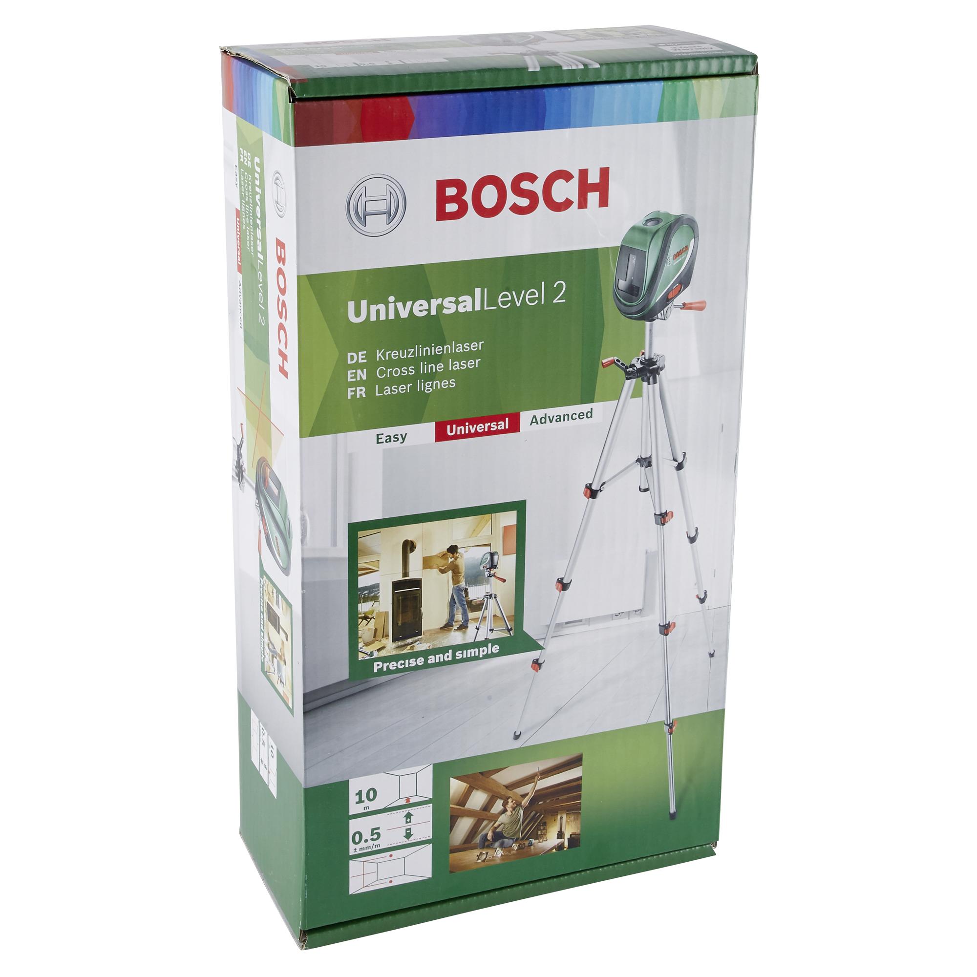 bosch kreuzlinienlaser universal level 3 ǀ toom baumarkt