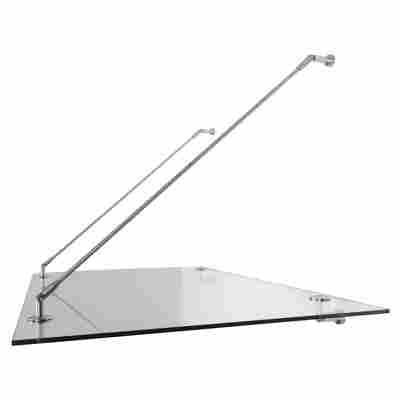 Glasvordach 'Glasline Davita' Edelstahl/Echtglas 140 x 90 cm