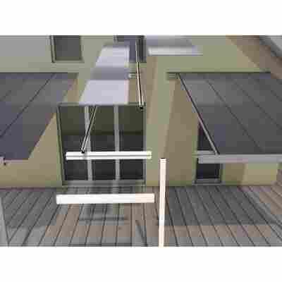 Terrassenüberdachung Erweiterungsmodul 406 x 120 cm, weiß