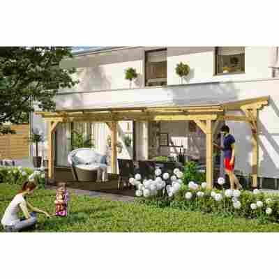 Terrassenüberdachung 'Sanremo' Leimholz natur 648 x 250 cm
