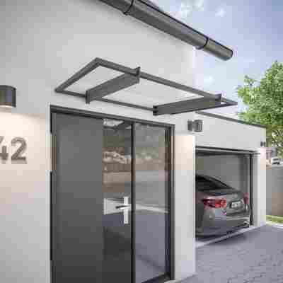 Pultvordach 'New Style 2.0' Stahl 150 x 95 cm