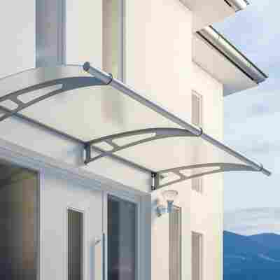 Pultbogenvordach-Basismodul 'LT-Line XL' satiniert 287,4 x 142 cm