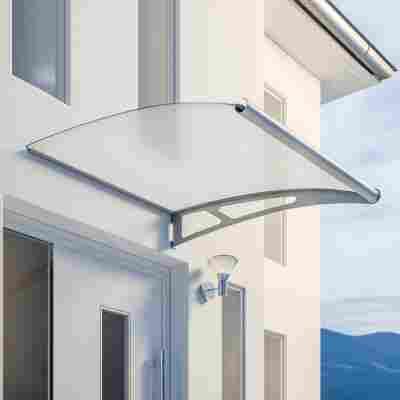 Pultbogenvordach-Erweiterungsmodul 'LT-Line XL' satiniert 121,8 x 142 cm