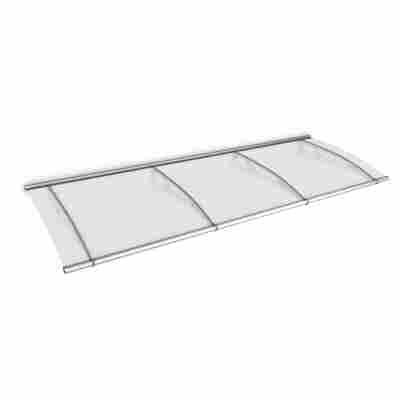 "Pultbogenvordach ""LT-Line"" Acrylglas satiniert transparent/silbern 17 x 95 x 270 cm"