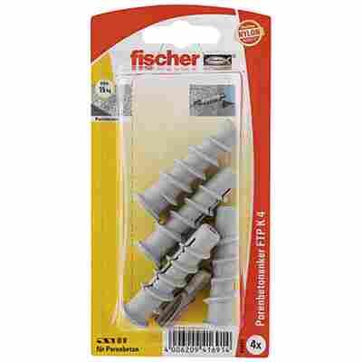 fischer Turbo Porenbetondübel FTP K 4 4 Stück