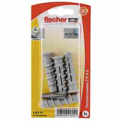 fischer Turbo Porenbetondübel FTP K 6 4 Stück