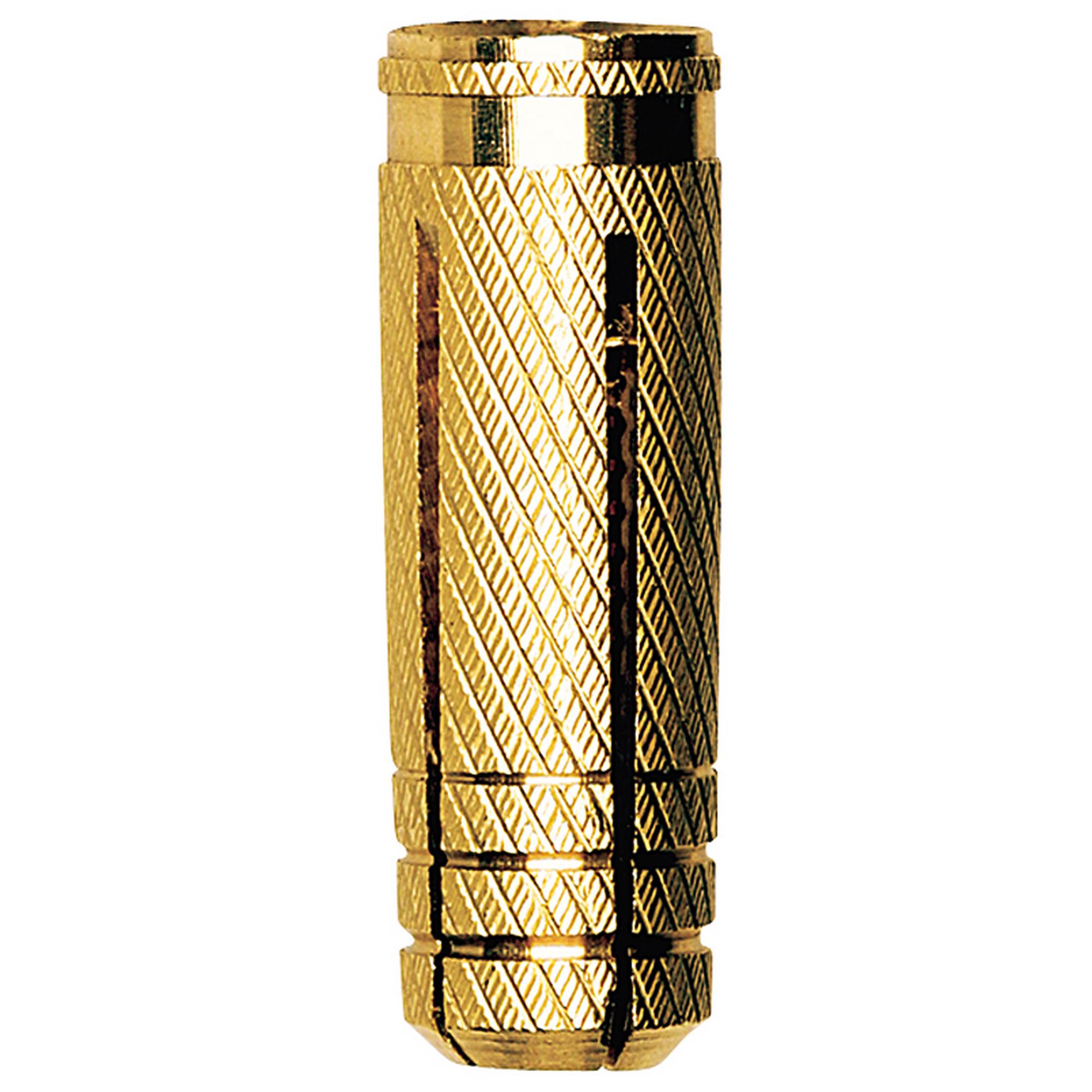 FISCHER MS Messingdübel M6 x 22mm Dübel Messing für metrisches Gewinde M6