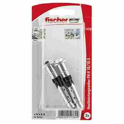 fischer Hochleistungsanker FH II 10/10 S mit Schraube 2 Stück
