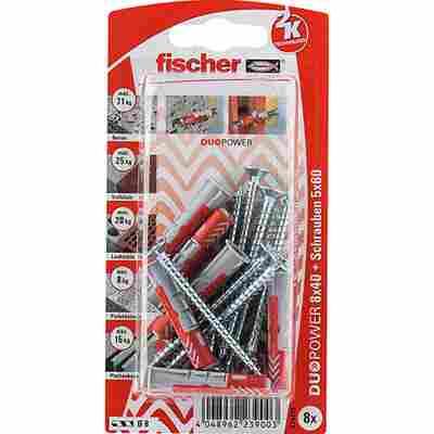 fischer DUOPOWER 8 x 40 S mit Schraube 8 Stück