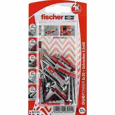 fischer DUOPOWER 6 x 30 S PH 12 Stück
