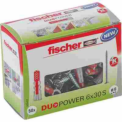 fischer DUOPOWER 6 x 30 S LD mit Schraube 50 Stück