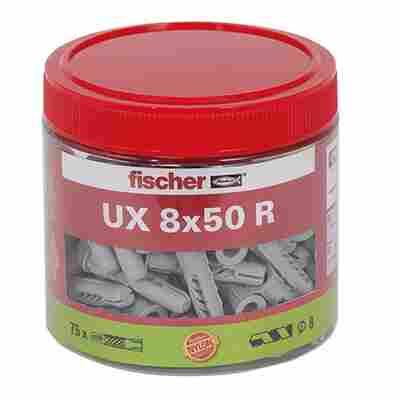 Runddose mit Universaldübeln 'UX' Ø 8 x 50 mm, 75 Stück