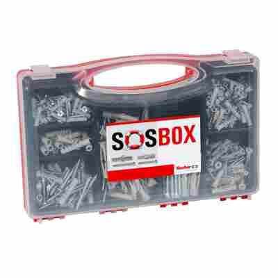 Montage-Set 'SOS-Box S + FU' Dübel und Schrauben, 180-teilig