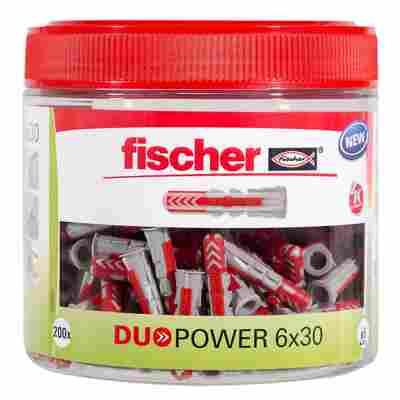 Runddose mit Dübeln 'Duopower' Ø 6 x 30 mm, 200-teilig