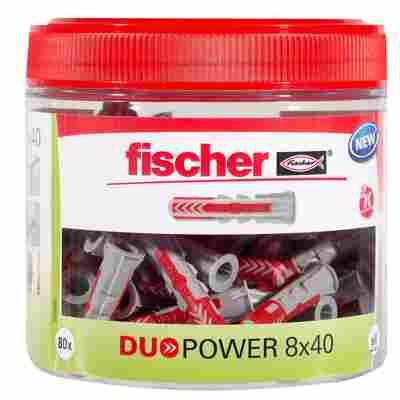 Runddose mit Dübeln 'Duopower' Ø 8 x 40 mm, 80-teilig