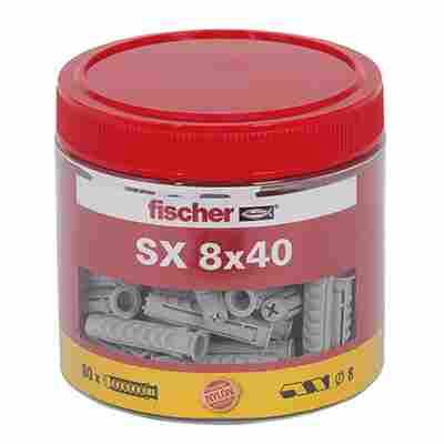 Dose mit Spreizdübeln 'SX' Ø 8 x 40 mm, 80 Stück