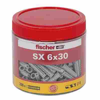Dose mit Spreizdübeln 'SX' Ø 6 x 30 mm, 200 Stück